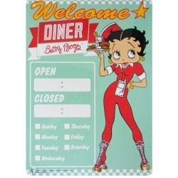 画像1: アメリカン雑貨 看板 プラスチックサインボード BETTY BOOP DINER