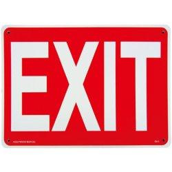 画像1: アメリカン雑貨 看板 プラスチックサインボード 出口 Exit CA-01