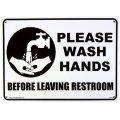 アメリカン雑貨 看板 プラスチックサインボード トイレの後は手を洗いましょう Please Wash Hands CA-04