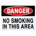 アメリカン雑貨 看板 プラスチックサインボード 危険ここは禁煙 Danger No Smoking In This Area CA-06