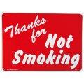 アメリカン雑貨 看板 プラスチックサインボード 禁煙エリア Thanks For Not Smoking CA-07