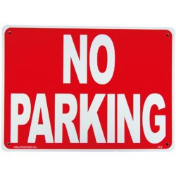画像1: アメリカン雑貨 看板 プラスチックサインボード 駐車禁止 No Parking ノーパーキング CA-08