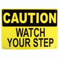 アメリカン雑貨 看板 プラスチックサインボード 足元注意 Caution Watch Your Step CA-10