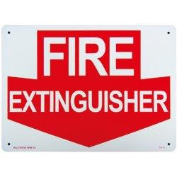 画像1: アメリカン雑貨 看板 プラスチックサインボード 消火栓はここです Fire Extinguisher CA-13