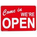アメリカン雑貨 看板 プラスチックサインボード 営業中 Come In We're Open オープン CA-14