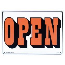 画像1: アメリカン雑貨 看板 プラスチックサインボード  Open/Closed(両面プリント) CA-21