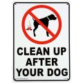 アメリカン雑貨 看板 プラスチックサインボード 犬の後始末をきれいに Clean Up After Your Dog CA-23