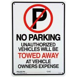 画像1: アメリカン雑貨 看板 プラスチックサインボード  No Parking(Towed Away)  CA-26