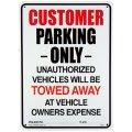 アメリカン雑貨 看板 プラスチックサインボード Customer Parking Only  CA-27