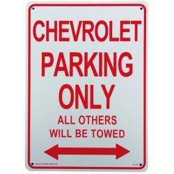 画像1: アメリカン雑貨 看板 プラスチックサインボード  Chevrolet Parking シボレーパーキング CA-29