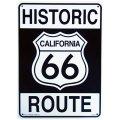 アメリカン雑貨 看板 プラスチックサインボード ヒストリックルート66 Historic Route 66 CA-30