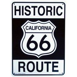画像1: アメリカン雑貨 看板 プラスチックサインボード ヒストリックルート66 Historic Route 66 CA-30