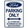 アメリカン雑貨 看板 プラスチックサインボード Ford Parking フォードパーキング CA-31