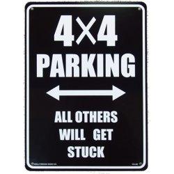 画像1: アメリカン雑貨 看板 プラスチックサインボード 四駆車専用駐車場 4x4 Parking 4×4パーキング CA-32