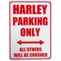 アメリカン雑貨 看板 プラスチックサインボード Harley Parking Only CA-34