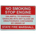 アメリカン雑貨 看板 プラスチックサインボード 火気厳禁 No Smoking Stop Engine CA-36