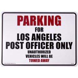 画像1: アメリカン雑貨 看板 プラスチックサインボード  L.A Post Officer Parking パーキング CA-38