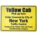 アメリカン雑貨 看板 プラスチックサインボード イエローキャブ(タクシー) Yellow Cab CA-39