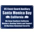 アメリカン雑貨 看板 プラスチックサインボード サンタモニカベイ Santa Monica Bay CA-40