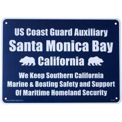 画像1: アメリカン雑貨 看板 プラスチックサインボード サンタモニカベイ Santa Monica Bay CA-40