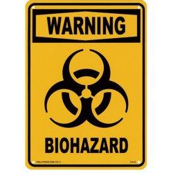 画像1: アメリカン雑貨 看板 プラスチックサインボード バイオハザード Biohazard(イエロー) CA-43
