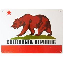 画像1: アメリカン雑貨 看板 プラスチックサインボード カリフォルニアリパブリック(カリフォルニア州旗) CA-46
