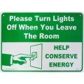 アメリカン雑貨 看板 プラスチックサインボード 使用後は電気を消して下さい Please Turn Lights Off CA-48