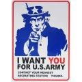 アメリカン雑貨 看板 プラスチックサインボード I Want You for U.S.Army CA-50