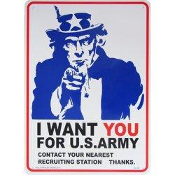 画像1: アメリカン雑貨 看板 プラスチックサインボード I Want You for U.S.Army CA-50