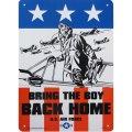 アメリカン雑貨 看板 プラスチックサインボード Bring The Boy Back Home CA-52