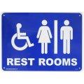 アメリカン雑貨 看板 プラスチックサインボード レストルーム(トイレ) Rest Rooms CA-54