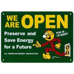 画像1: アメリカン雑貨 看板 プラスチックサインボード WE ARE OPEN CA-55