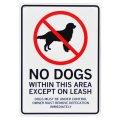 アメリカン雑貨 看板 プラスチックサインボード 犬禁止区域 CA-59