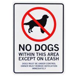 画像1: アメリカン雑貨 看板 プラスチックサインボード 犬禁止区域 CA-59