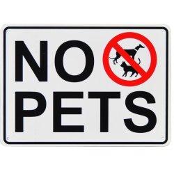 画像1: アメリカン雑貨 看板 プラスチックサインボード ペット禁止 CA-62