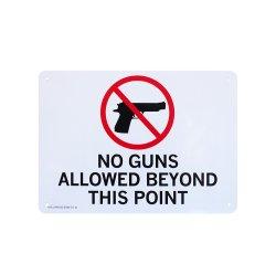 画像1: アメリカン雑貨 看板 プラスチックサインボード 銃規制区域 CA-70