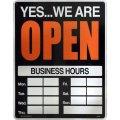 アメリカン雑貨 看板 プラスチックサインボード(Lサイズ) Open/Closed CA-L06