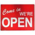 アメリカン雑貨 看板 プラスチックサインボード(Lサイズ) Open/Closed CA-L07