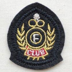 画像1: ミニエンブレムワッペン Fクラブ(ブラック)