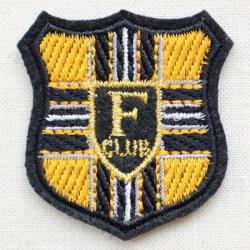 画像1: ミニエンブレムワッペン Fクラブ(イエロー)
