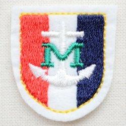 画像1: ミニエンブレムワッペン Mアンカー(トリコロール)