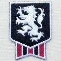 エンブレムワッペン ライオン(ホワイトライン)