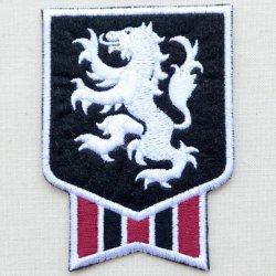 画像1: エンブレムワッペン ライオン(ホワイトライン)