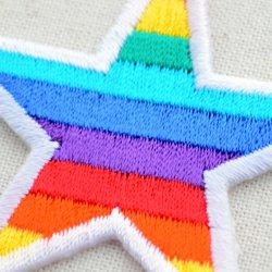 画像2: ワッペン レインボースター(虹柄の星)