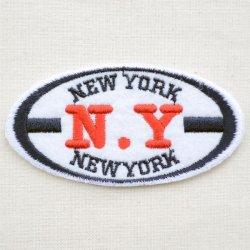 画像1: ワッペン ニューヨーク(N.Y/オーバル)