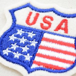画像2: ワッペン USA ロードサイン(アメリカ国旗/星条旗柄)