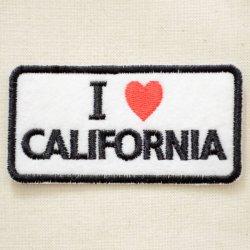 画像1: ワッペン アイラブカリフォルニア(レクタングル)