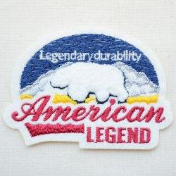 画像1: ワッペン American Legend(シロクマ/パイル刺繍)