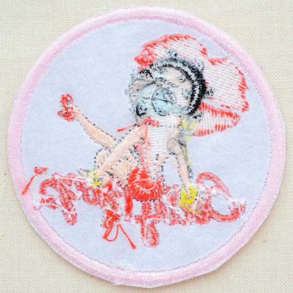 ワッペン ベティブープ Betty Boop(キスマーク)