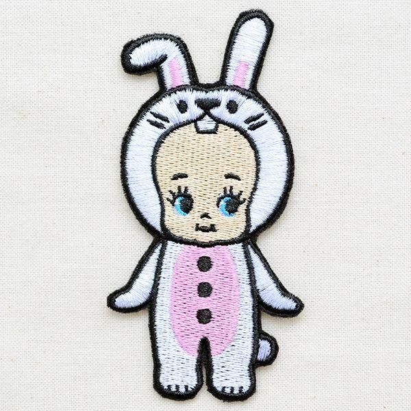 キャラクターワッペン Kewpie キューピー(キグルミウサギ)